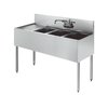 Krowne KR21-43R Royal Three Compartment Bar Sink