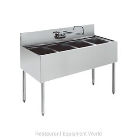 Krowne KR21-44C Royal Four Compartment Bar Sink