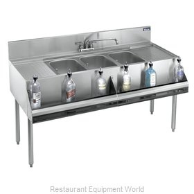 Krowne KR21-63C Royal Three Compartment Bar Sink