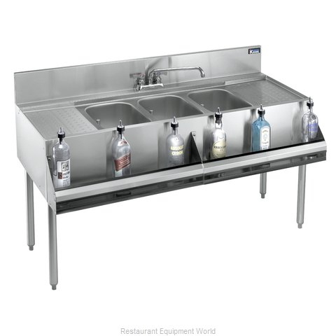Krowne KR21-73C Royal Three Compartment Bar Sink (Magnified)