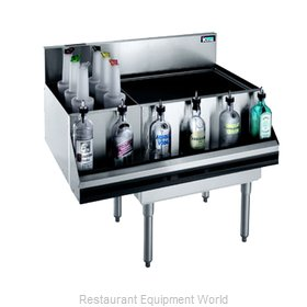 Krowne KR21-M36R-10 Underbar Ice Bin Cocktail Bottle Well Bin