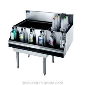 Krowne KR21-M42L-10 Underbar Ice Bin/Cocktail Station, Bottle Well Bin