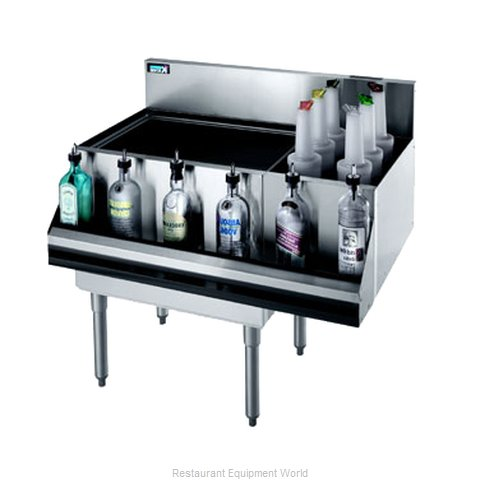Krowne KR21-M42L Underbar Ice Bin/Cocktail Station, Bottle Well Bin