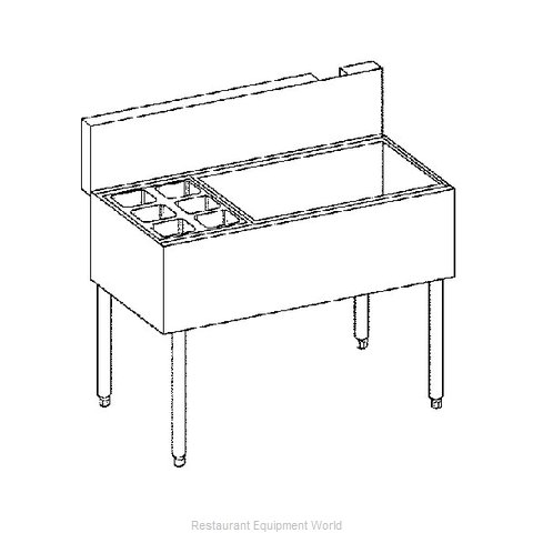 Krowne KR21-M48C-10 Underbar Ice Bin Cocktail Station