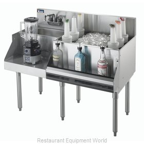 Krowne KR21-W42R-10 Underbar Ice Bin/Cocktail Station, Blender Station
