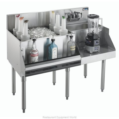 Krowne KR21-W48L-10 Underbar Ice Bin Cocktail Blender Station
