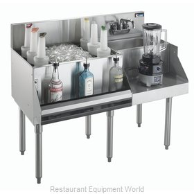 Krowne KR21-W48L-10 Underbar Ice Bin/Cocktail Station, Blender Station