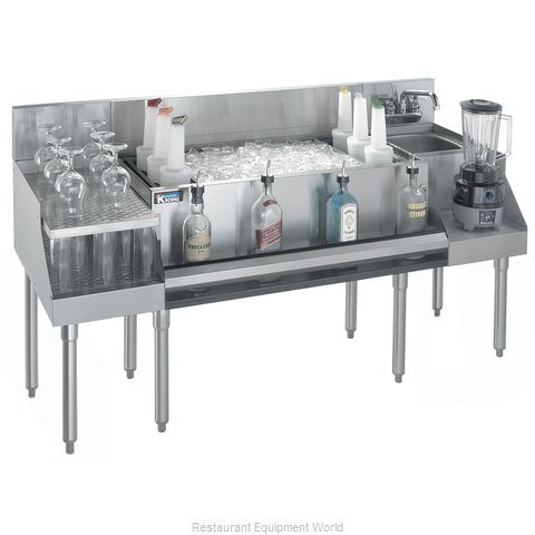 Krowne KR21-W60B-10 Underbar Ice Bin Cocktail Blender Station