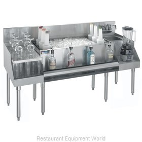 Krowne KR21-W66B-10 Underbar Ice Bin/Cocktail Station, Blender Station