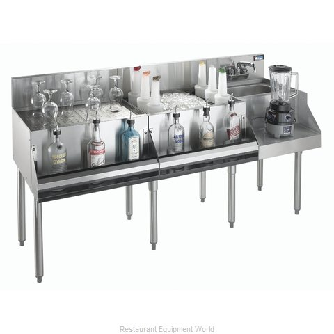 Krowne KR21-W72A-10 Underbar Ice Bin/Cocktail Station, Blender Station
