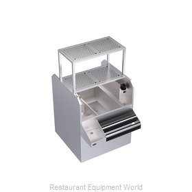 Krowne KRPT-36RP-10 Underbar Ice Bin/Cocktail Station, Pass-Thru Combo