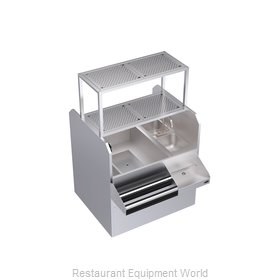 Krowne KRPT-42LP-10 Underbar Ice Bin/Cocktail Station, Pass-Thru Combo