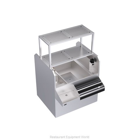 Krowne KRPT-42RP-10 Underbar Ice Bin/Cocktail Station, Pass-Thru Combo