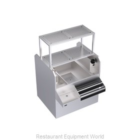 Krowne KRPT-42RP-10 Underbar Ice Bin Cocktail Pass-Thru Combo Unit