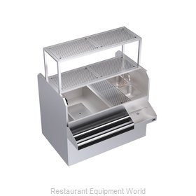 Krowne KRPT-54ALP-10 Underbar Ice Bin/Cocktail Station, Pass-Thru Combo
