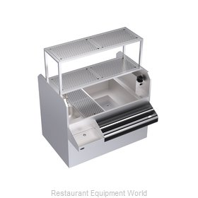 Krowne KRPT-54ARP-10 Underbar Ice Bin/Cocktail Station, Pass-Thru Combo