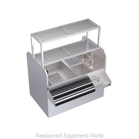 Krowne KRPT-54BLP-10 Underbar Ice Bin/Cocktail Station, Pass-Thru Combo