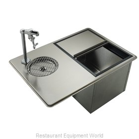 Krowne WS-2 Glass Filler Station with Drain Pan