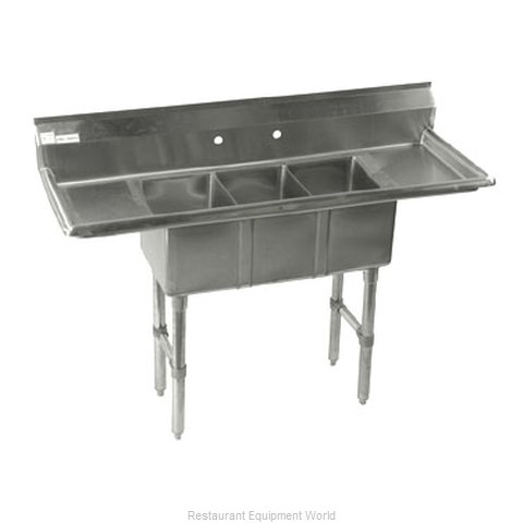 Klinger's Trading Inc. CON32D Sink, (3) Three Compartment