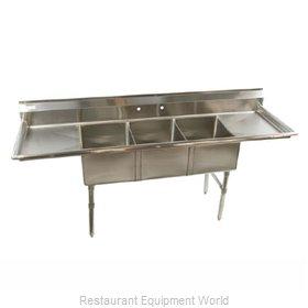 Klinger's Trading Inc. ECS32D Sink, (3) Three Compartment
