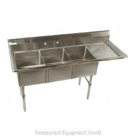Klinger's Trading Inc. ECS3DR24 Sink, (3) Three Compartment