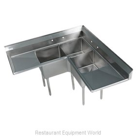 Klinger's Trading Inc. EIT-3C-2D Sink, (3) Three Compartment