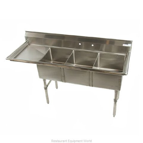 Klinger's Trading Inc. MCS3DL Sink, (3) Three Compartment