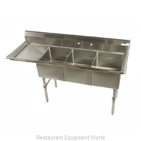 Klinger's Trading Inc. MCS3DL Sink, (3) Three Compartment