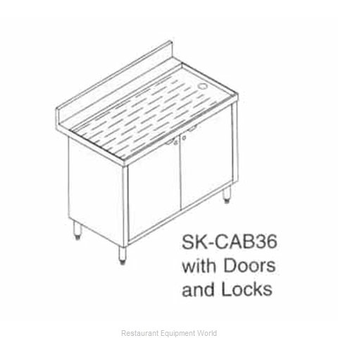 LaCrosse SK-CAB36 Underbar Workboard Storage Cabinet (Magnified)