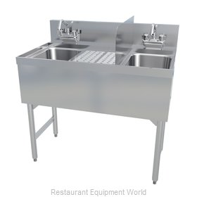 LaCrosse SK3-HS21R Underbar Ice Bin/Cocktail Station, Sink Combo