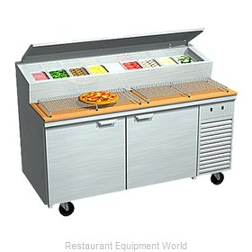 Larosa 2067-PTB Refrigerated Counter, Pizza Prep Table