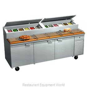 Larosa 2093-PTB Refrigerated Counter, Pizza Prep Table