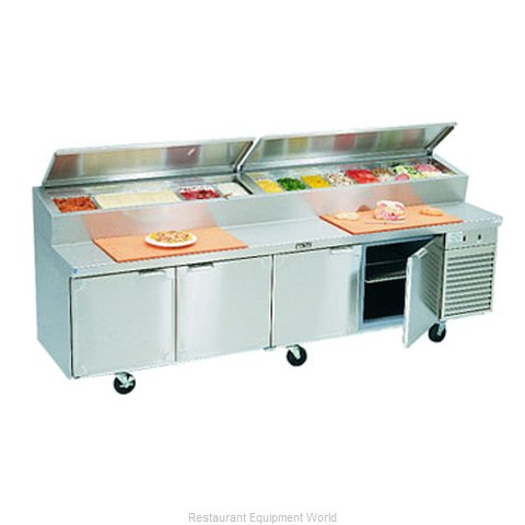 Larosa 2510-PTB Refrigerated Counter, Pizza Prep Table