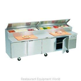 Larosa 2510-PTB Refrigerated Counter, Pizza Prep Table