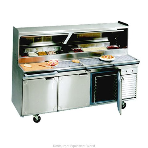 Larosa 2586-PTB Refrigerated Counter, Pizza Prep Table