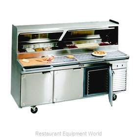 Larosa 2586-PTB Refrigerated Counter, Pizza Prep Table