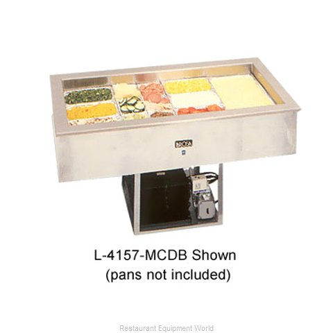 Larosa 4157-MCDB Cold Pan Food Unit Drop-In (Magnified)