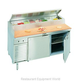 Larosa L-14138-28 Pizza Prep Table Refrigerated