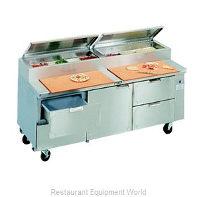 Larosa L-15136-28 Pizza Prep Table Refrigerated