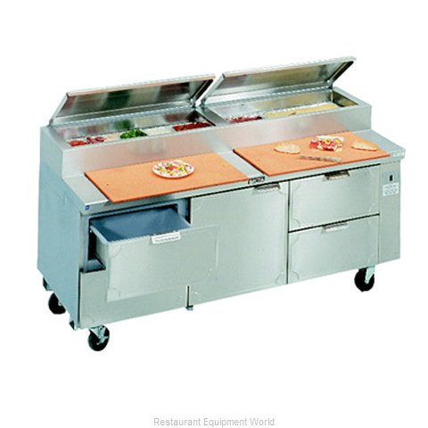 Larosa L-15148-28 Pizza Prep Table Refrigerated (Magnified)