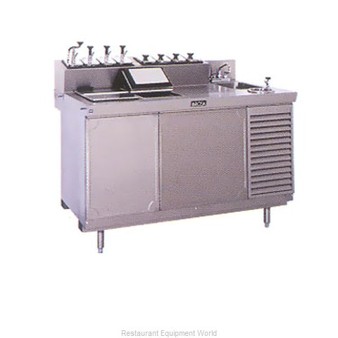 Larosa L-42168-32 Ice Cream Dipping Cabinet With Syrup Rail