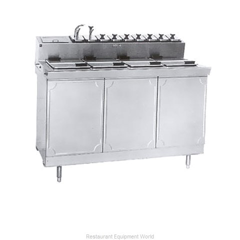 Larosa L-43142-28 Ice Cream Dipping Cabinet With Syrup Rail