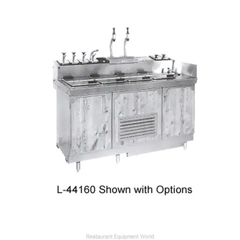Larosa L-44160 Ice Cream Dipping Cabinet With Syrup Rail