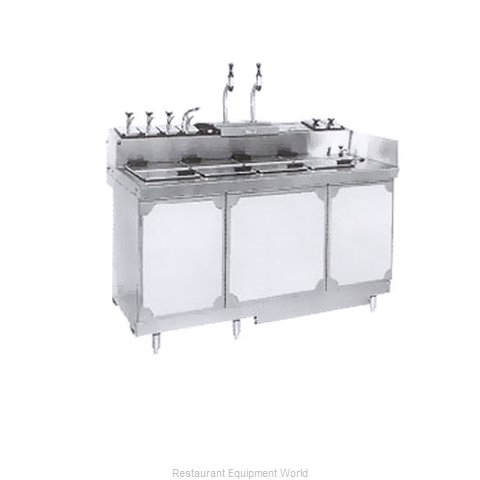 Larosa L-45160 Ice Cream Dipping Cabinet With Syrup Rail