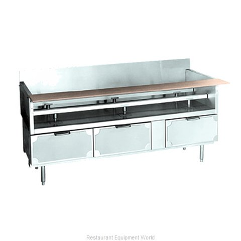 Larosa L-75166-30 Refrigerated Counter Griddle Stand