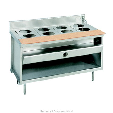 Larosa L-80148-28 Serving Counter Hot Food Steam Table Gas