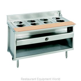Larosa L-80160-28 Serving Counter Hot Food Steam Table Gas