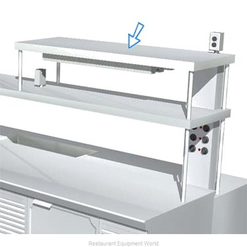 Larosa L-90177-D DOUBLE Overshelf, Table-Mounted (Magnified)
