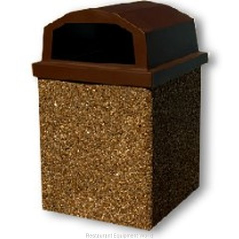 Lexington Precast 40LP-BROWN Receptacle Lid
