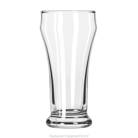 Libbey 12 Pilsner Beer Glass (Magnified)